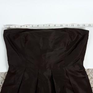 J. Crew Dresses - J Crew Dark Brown Strapless Silk Dress